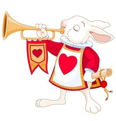 Bunny royal trumpeter vector image
