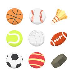 cartoon colorful ball set sport balls vector image