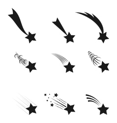 Falling stars vector image vector image