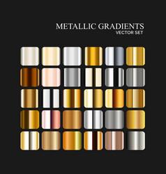 metallic silver golden and bronze gradient vector image