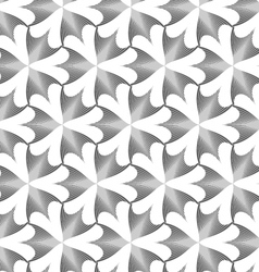 Monochrome striped pointy three pedal flowers vector image vector image
