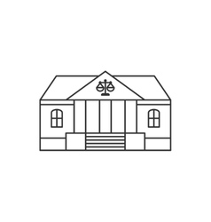 Courthouse thin line icon vector image