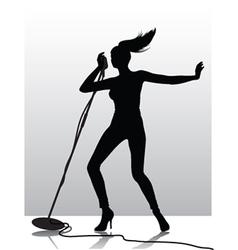 female singer silhouette vector image vector image