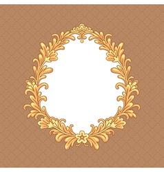 floral baroque frame vector image