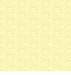 floral pattern on a beige background vector image
