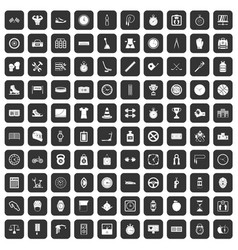 100 stopwatch icons set black vector