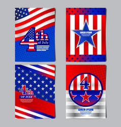 4th of july usa flag banner layout template vector image