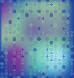 Abstract background of the hexagon and star vector image