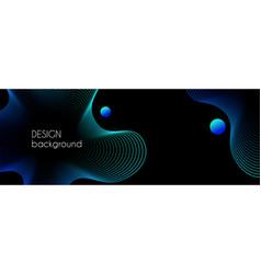 Abstract dark long banner wavy minimal vector