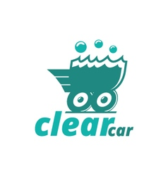 Abstract logo template corporate clear car vector