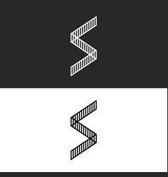 Angular form geometric letter s logo monogram vector