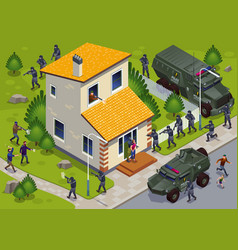 Anti terror operation special police forces vector