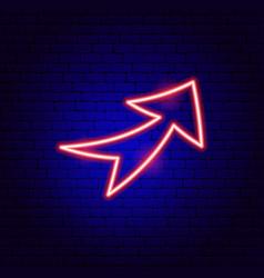 Arrow neon sign 8 vector