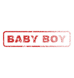 baby boy rubber stamp vector image
