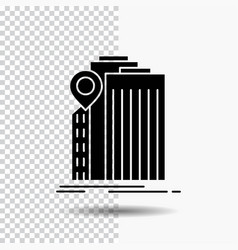 bank banking building federal government glyph vector image
