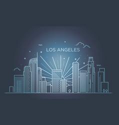 Banner los angeles city in flat line trendy vector