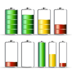 Battery charge symbols energy icon power level vector