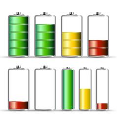 battery charge symbols energy icon power level vector image