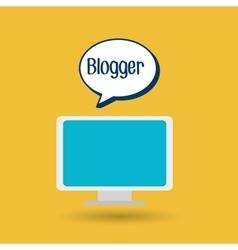 Blogger web internet icon vector
