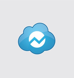 Blue cloud diagram icon vector
