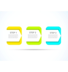 Bright step design vector image