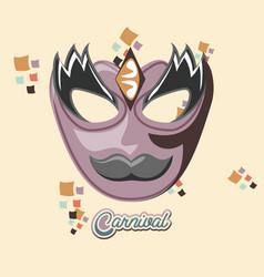 carnival mask vintage icon vector image