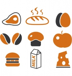 cartoon food signs vector image