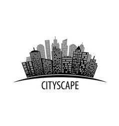 Cityscape on white vector