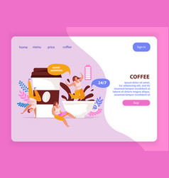 coffee battery website background vector image
