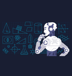 colorful machine learning vector image