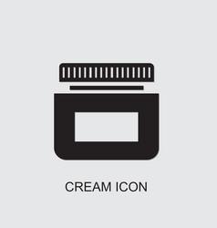 Cream icon vector