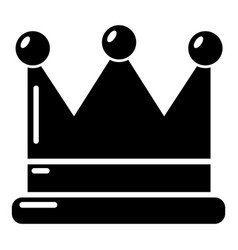 crown icon simple black style vector image