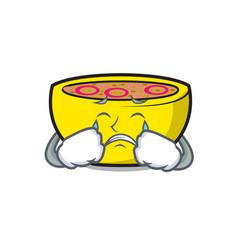 Crying soup union mascot cartoon vector