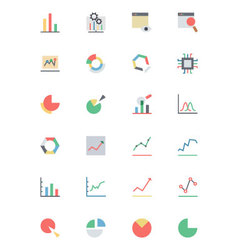 Data Analytics Colored Icons 1 vector image