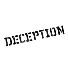 Deception rubber stamp vector