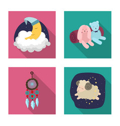 Design dreams and night logo collection vector