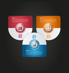 digital business infographic design vector image