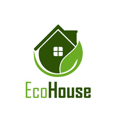 eco house nature logo design template vector image