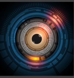 eyeball future technology with security concept vector image