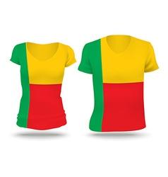 Flag shirt design of Benin vector image