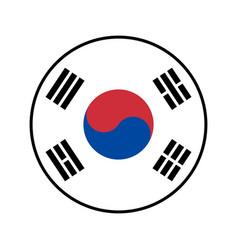 flag south korea icon isolate vector image