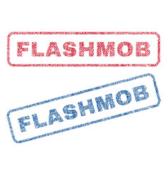Flashmob textile stamps vector