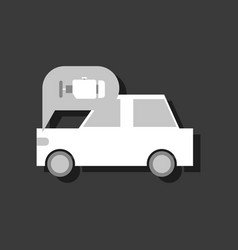 Flat icon design collection car and engine in vector