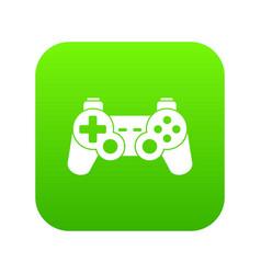 game controller icon digital green vector image