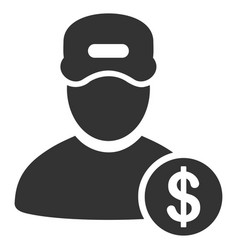 guy salary flat icon vector image