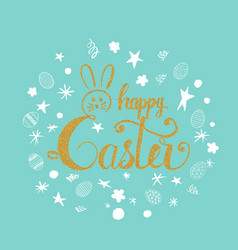 happy easter greeting card happy easter phrase vector image