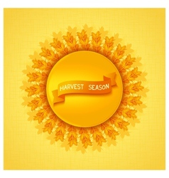 Harvest season design vector