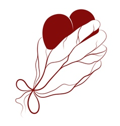 Heart present in a hand vector