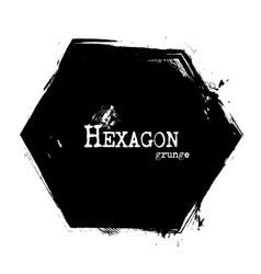 hexagon shape grunge style vector image