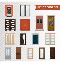 House Doors Transparent Set vector